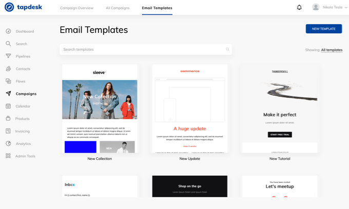 Tapdesk email templates